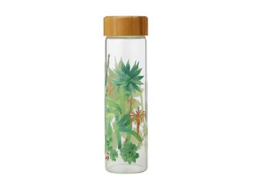 Royal Botanic Garden Arid Garden Glass Water Bottle 550ML Agave