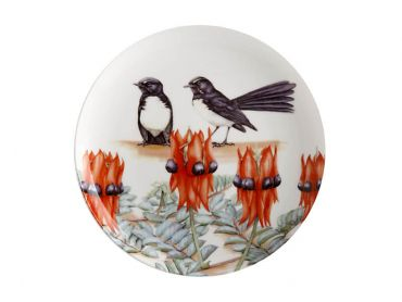 Royal Botanic Gardens Victoria Garden Friends Plate 20cm Willy Wagtail Gift Boxed