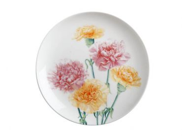 Katherine Castle Floriade Plate 20cm Carnations Gift Boxed