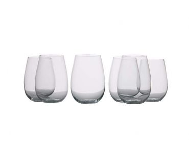 Mansion Stemless White Wine Glasses 500ML Set of 6