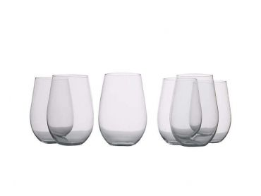 Mansion Stemless Red Wine Glasses 580ML Set of 6