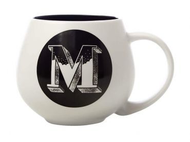 "The Letterettes Snug Mug 450ML ""M"" Gift Boxed"