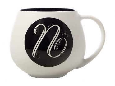"The Letterettes Snug Mug 450ML ""N"" Gift Boxed"