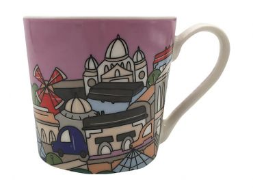 Megan McKean Cities Mug 430ML Paris Gift Boxed