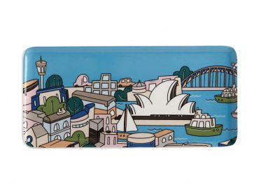 Megan McKean Cities Rectangular Plate 25x12cm Sydney Gift Boxed