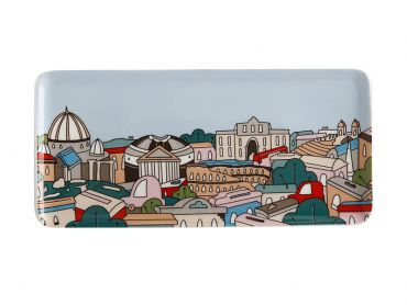 Megan McKean Cities Rectangular Plate 25x12cm Rome Gift Boxed