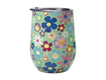 Kasey Rainbow Be Kind Double Wall Insulated Tumbler 350ML Flowers
