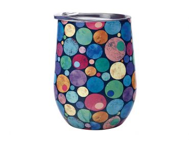 Kasey Rainbow Be Kind Double Wall Insulated Tumbler 350ML Dots