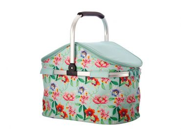 Balinese Garden Insulated Picnic Carry Basket 40L