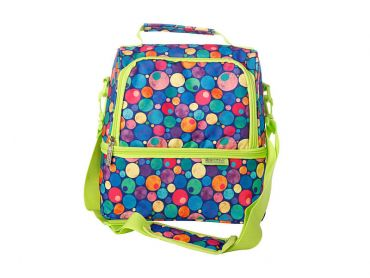 Kasey Rainbow Be Kind Insulated Lunch Bag Dots