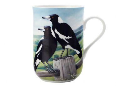 Birds of Australia Katherine Castle Mug 300ML Magpies