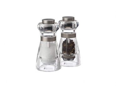 Dynasty Acrylic Salt & Pepper Mill Set 11cm