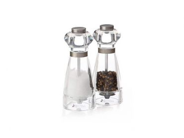 Dynasty Acrylic Salt & Pepper Mill Set 16cm