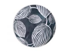 Panama Dinner Plate 26.5cm Grey & White