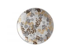 Yuletide Plate Round 16cm Evergreen