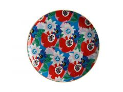 Teas & C's Glastonbury Plate 20cm Passion vine Blue