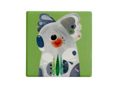 Pete Cromer Ceramic Square Tile Coaster Koala 9.5cm