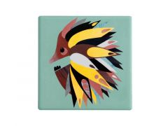 Pete Cromer Ceramic Square Tile Coaster Echidna 9.5cm