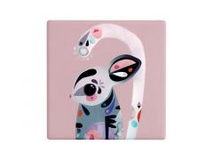 Pete Cromer Ceramic Square Tile Coaster Sugar Glider 9.5cm