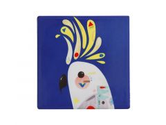 Pete Cromer Ceramic Square Tile Coaster Cockatoo 9.5cm