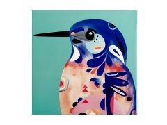 Pete Cromer Ceramic Square Trivet 20cm Azure Kingfisher