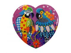 Love Hearts Ceramic Heart Coaster 10cm Araras