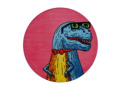 Mulga the Artist Ceramic Round Coaster 10.5cm T-Rex