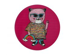 Mulga the Artist Ceramic Round Coaster 10.5cm Cat