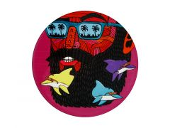 Mulga the Artist Ceramic Round Coaster 10.5cm Dolphin Man