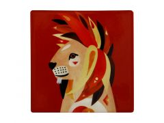 Pete Cromer Wildlife Ceramic Square Coaster 9.5cm Lion