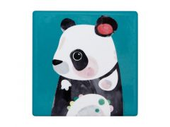 Pete Cromer Wildlife Ceramic Square Coaster 9.5cm Panda