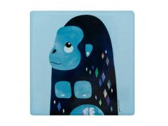Pete Cromer Wildlife Ceramic Square Coaster 9.5cm Gorilla