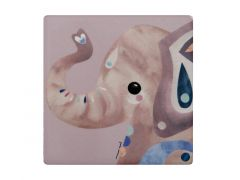 Pete Cromer Wildlife Ceramic Square Coaster 9.5cm Elephant
