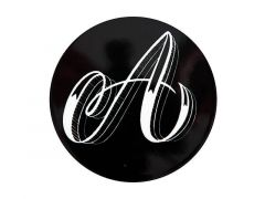 "The Letterettes Ceramic Round Coaster 10.5cm ""A"" Gift Boxed"
