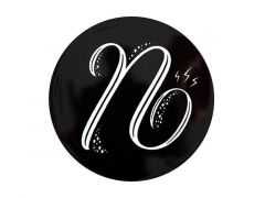 "The Letterettes Ceramic Round Coaster 10.5cm ""N"" Gift Boxed"