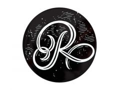 "The Letterettes Ceramic Round Coaster 10.5cm ""R"" Gift Boxed"