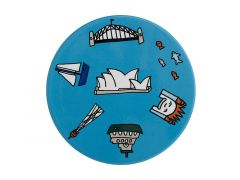 Megan McKean Cities Ceramic Round Coaster 10.5cm Sydney