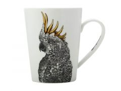Marini Ferlazzo Birds Mug 450ML Tall Sulphur-crested Cockatoo