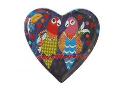 Love Hearts Heart Plate 15.5cm Love Birds
