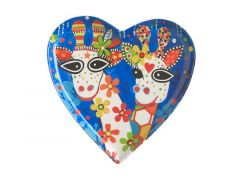 Love Hearts Heart Plate 15.5cm Mr Gee Fam