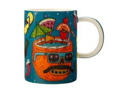 Mulga the Artist Mug 450ML Coconut