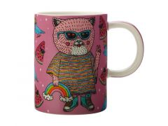 Mulga the Artist Mug 450ML Cat