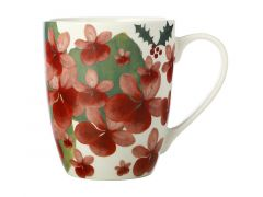 Poinsettia Coupe Mug 350ML Geranium Gift Boxed