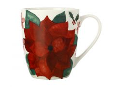 Poinsettia Coupe Mug 350ML Poinsettia Gift Boxed