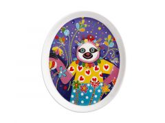 Donna Sharam Rainbow Jungle Plate 16cm Slow Walker Gift Boxed
