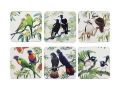 Birdsong Coaster Set of 6 10.5cm Assorted