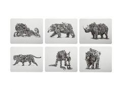 Marini Ferlazzo Animal Earth Placemat Set Of 6