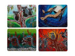 Melanie Hava Journeys Cork Back Placemat 34x26.5cm Set of 4 Assorted Gift Boxed