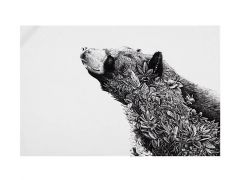 Marini Ferlazzo Tea Towel 50x70cm Asiatic Black Bear