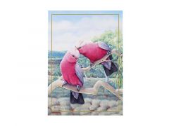 Birds of Australia 10 year Anniversary Tea Towel 50x70cm Galah